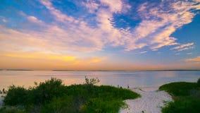 Sunset in Brighton Le Sand beach, Sydney stock image