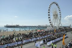 Brighton Marathon 2017 Stockfoto