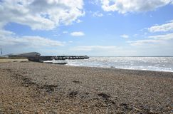 Brighton Marina and beach. England Royalty Free Stock Photography