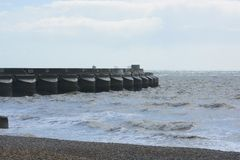 Brighton Marina and beach. England Royalty Free Stock Photo