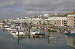 Brighton Marina. Sussex. Engeland Stock Foto's