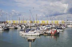 Brighton Marina. Sussex. England fotografering för bildbyråer