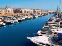 Brighton Marina, UK. A view of the Brighton Beach, UK, in summer Stock Images