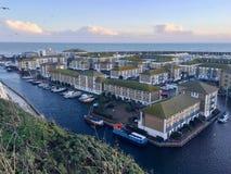 Brighton Marina, un gran punto del ocio en Inglaterra imagen de archivo