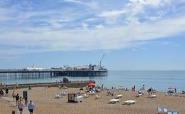 Brighton nadbrzeże, Wschodni Sussex, Anglia Zdjęcie Royalty Free