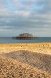 Brighton-Ostpier England Stockfotografie