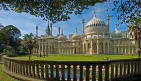 Brighton Pavilion. The Royal Pavilion, built for King George IV in the early 19C at Brighton, Sussex, England Royalty Free Stock Photos