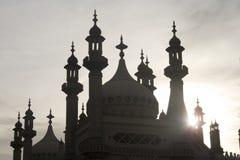 Brighton-Pavillion im Schattenbild lizenzfreies stockbild