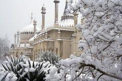 Brighton-Pavillion im Schnee Lizenzfreie Stockfotos