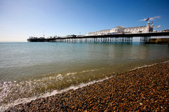 Brighton pier. Beach view of Brighton pier, United Kingdom Royalty Free Stock Photos