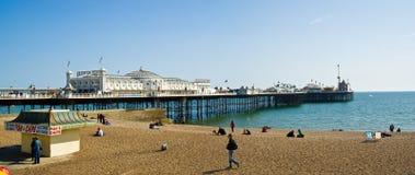Brighton Pier. And beach, Brighton, England royalty free stock image
