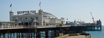 Brighton Pier. And beach, Brighton, England stock photo