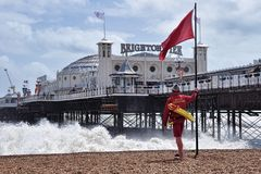 Brighton Pier royalty-vrije stock afbeelding