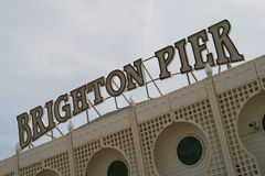 Brighton pier. The Brighton pier entrance on a nice hot sunny May day Stock Photos