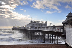 Brighton Pier. (formerly called the Palace Pier) in winter sunshine stock photography