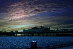 Brighton pier. Sunset taken in November winter Stock Photography
