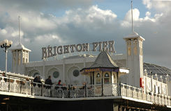 Brighton Pier. Amusement arcade entrance Royalty Free Stock Photos