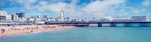 Brighton Pier. Amusement pier of Brighton in southern England. August 2014 stock photos