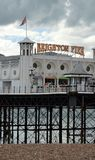 Brighton Pier auf der Ostküste von England Stockfotografie