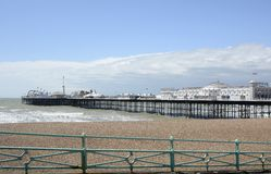 Brighton Pier and beach. England Stock Photos
