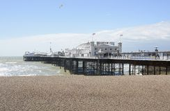 Brighton Pier and beach. England Stock Images