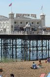 Brighton Pier and beach. Sussex. England Stock Image