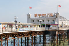 Brighton Pier in Brighton, England Royalty Free Stock Image