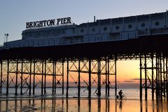 Brighton pier carrusel royalty free stock image