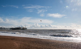 Brighton Pier and Clouds Stock Photo