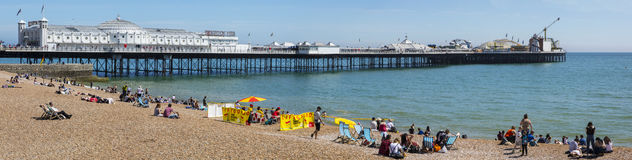 Brighton Pier dans le Sussex photographie stock