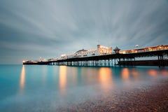 Brighton pier at dusk stock photo