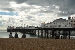Brighton Pier on the East coast of England. Stock Images