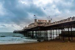 Brighton Pier em Brigghton, Sussex do leste, Inglaterra, Reino Unido foto de stock