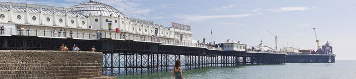 Brighton Pier - England Arkivfoton