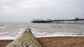 The Brighton Pier in England stock footage
