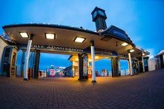 Brighton Pier entrance fisheye Royalty Free Stock Image