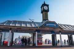 Brighton Pier entrance Stock Photos