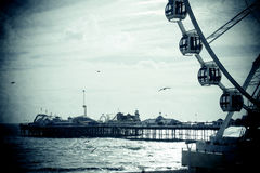 Brighton Pier with Ferris Wheel. In silhouette, Sussex Royalty Free Stock Image