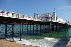 Brighton-Pier am heißesten Tag des Jahres Lizenzfreie Stockbilder