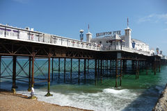 Brighton Pier On Hottest Day Of The Year. View of Brighton pier during the hottest day of the year Royalty Free Stock Images