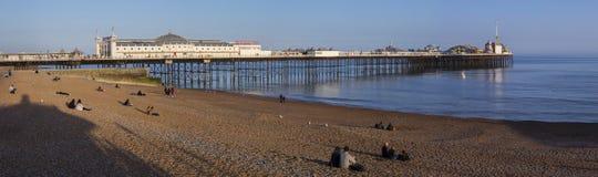 Brighton Pier i Sussex Arkivbild
