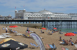 Brighton Pier, le Sussex, Angleterre Photographie stock libre de droits