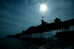 Brighton pier at night Royalty Free Stock Photos