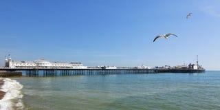 Brighton Pier Panorama image stock