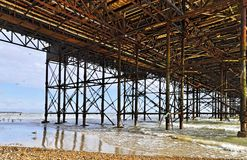 The Brighton Pier seen from underneath Stock Photos
