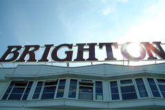 Brighton Pier Sign images stock