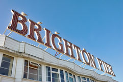 Brighton Pier Sign Stock Photography