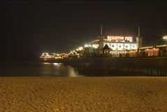 Brighton Pier South England. At Night Stock Photography