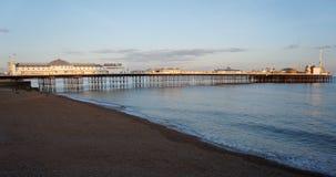 Brighton Pier, UK. Landscape shot of Brighton Pier, UK, in evening light stock photo