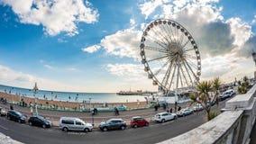 Brighton Pier vittoriano e la ruota di Brighton fotografia stock libera da diritti